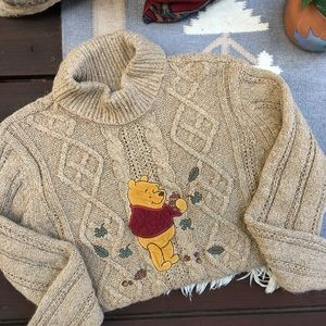Vintage Disney Cable Knit Chunky Sweater